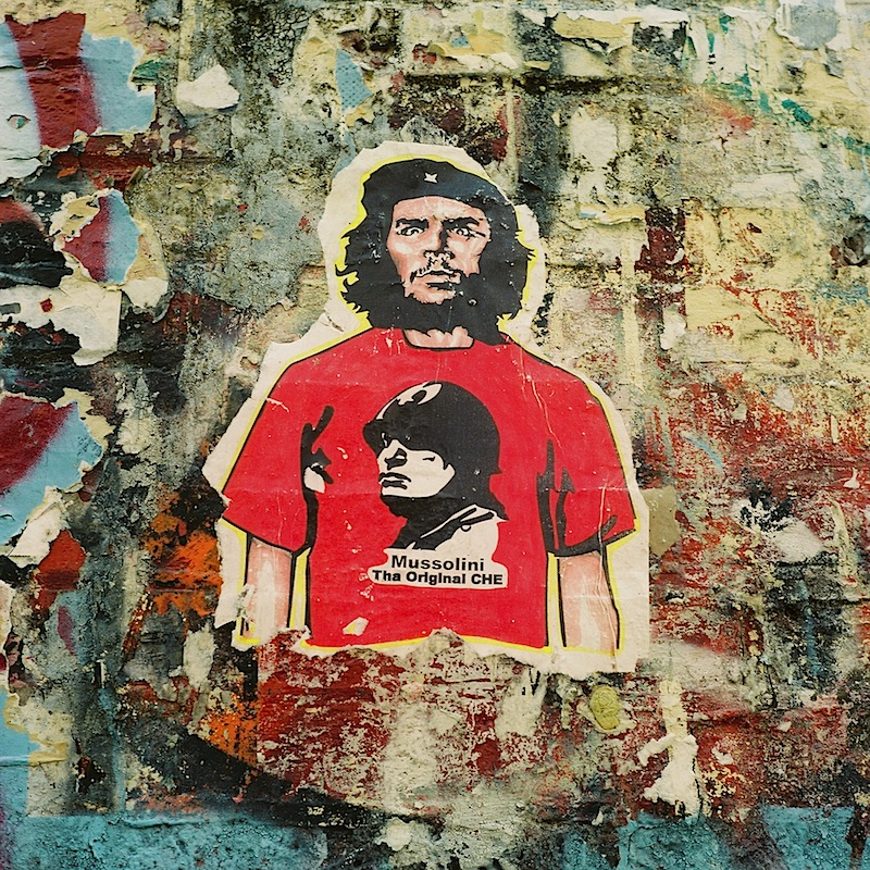mussolini the original che street art found in NYC