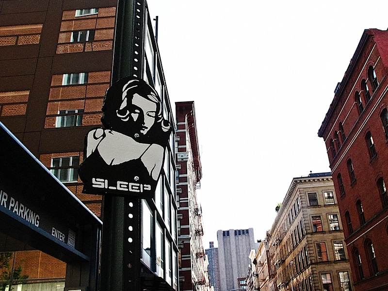 street art by sleep in NYC