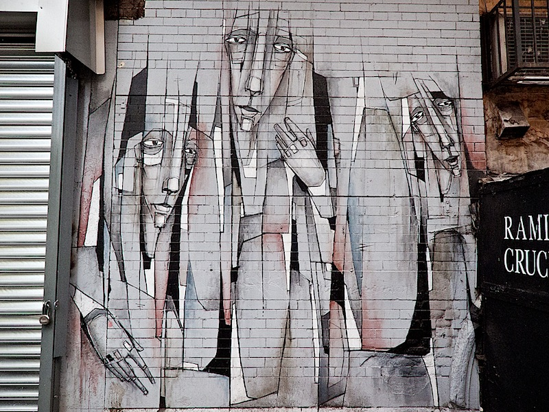 street art by damon ginandes - vigil - in nyc