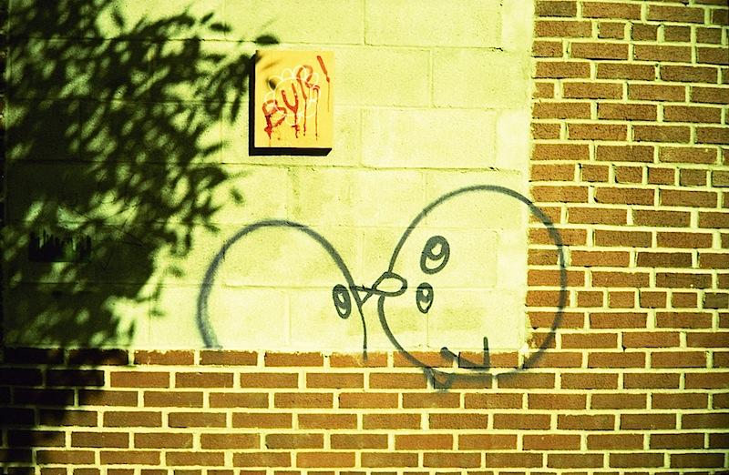 kissing birds street art in NYC