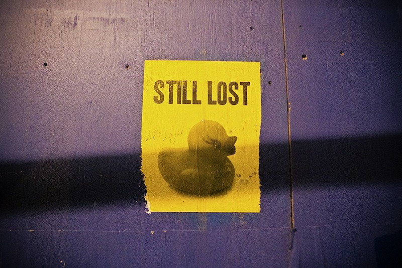 still lost duck street art in NYC