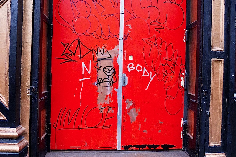 street art by nobody aka TMNK and jim joe in NYC