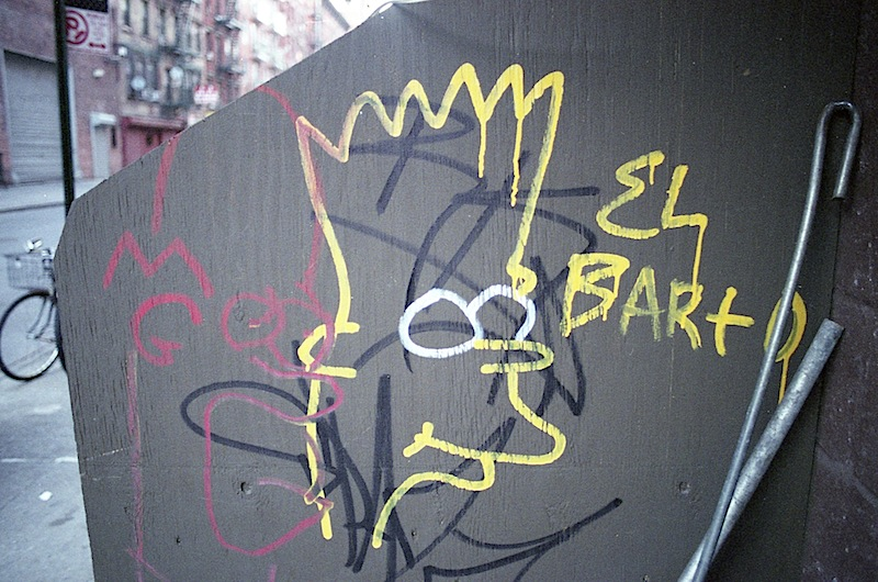 el barto graffiti on the lower east side of NYC