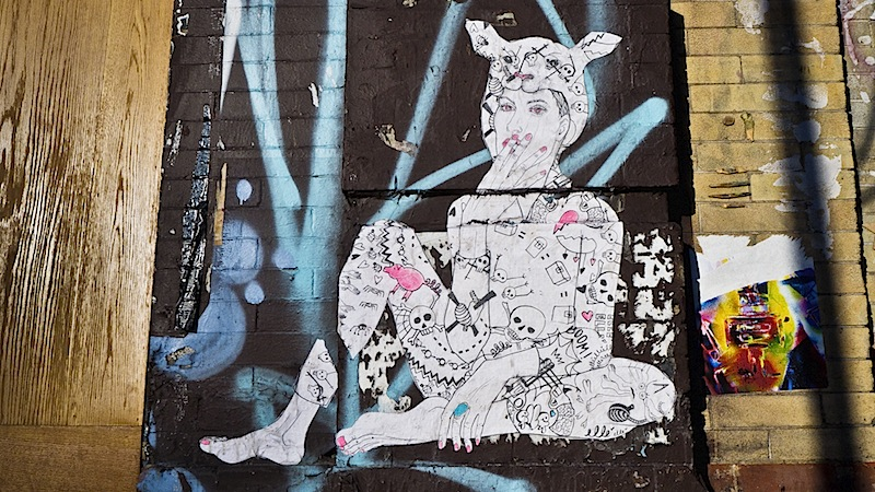 street art by elle found in the chelsea area of NYC