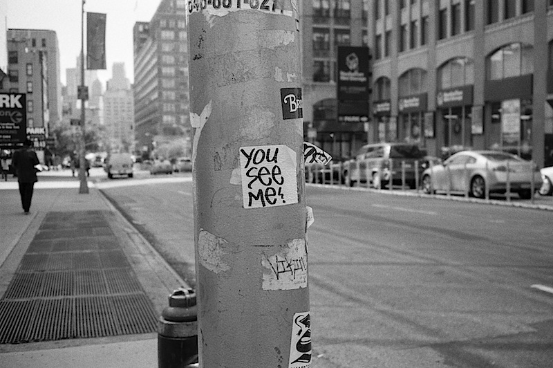you see me? graffiti sticker found in NYC
