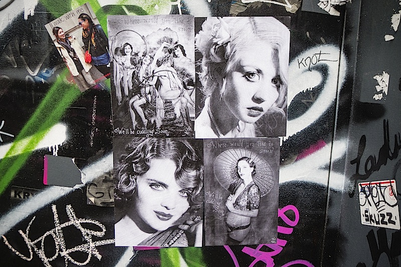 street art by lillian lorraine found in SoHo, NYC