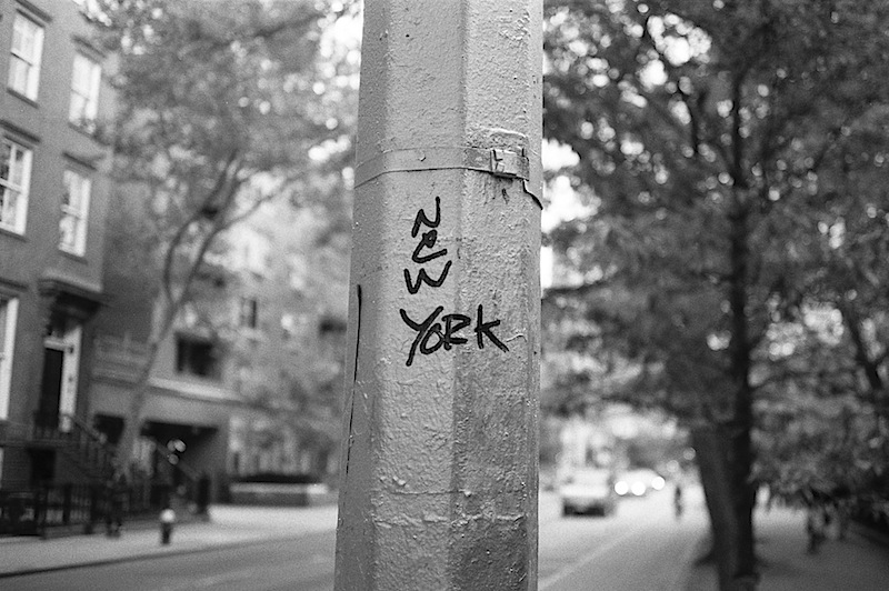 new york graffiti shot with a contax t2