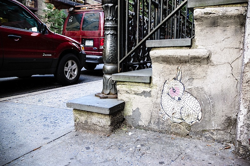 a bunny by abel macias found in the east vilalge of nyc